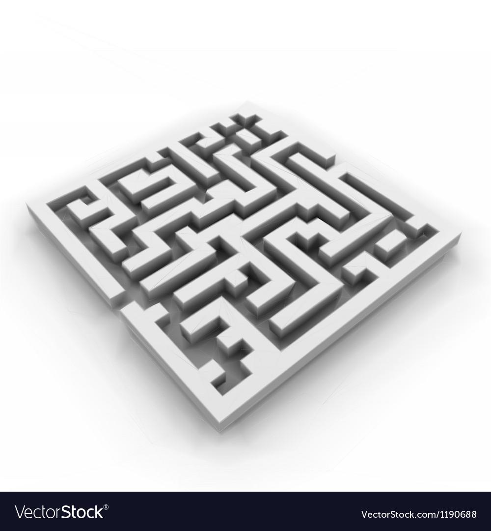 A maze labyrinth