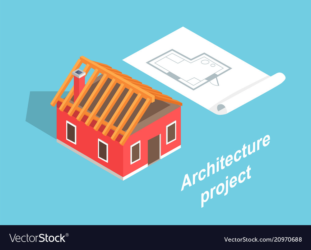 Architecture project house template color banner