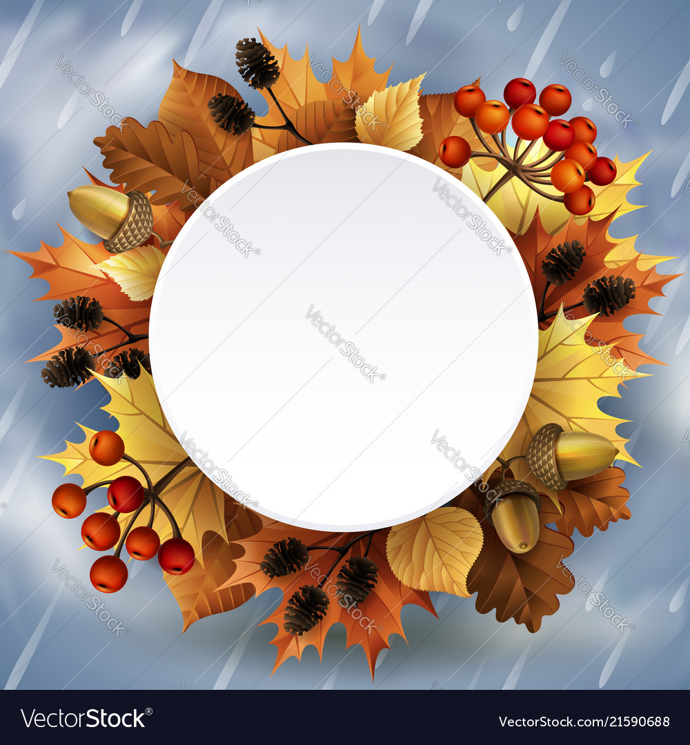 Autumn background with