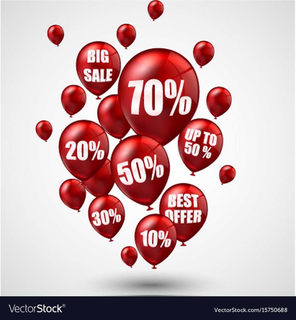 Big sale and best offer balloons