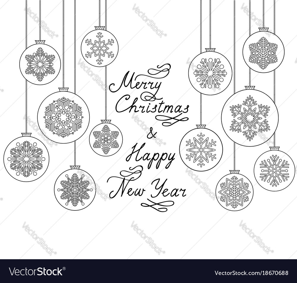 Christmas background with handwritten greeting