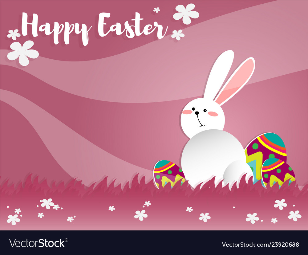 Cute easter greeting background