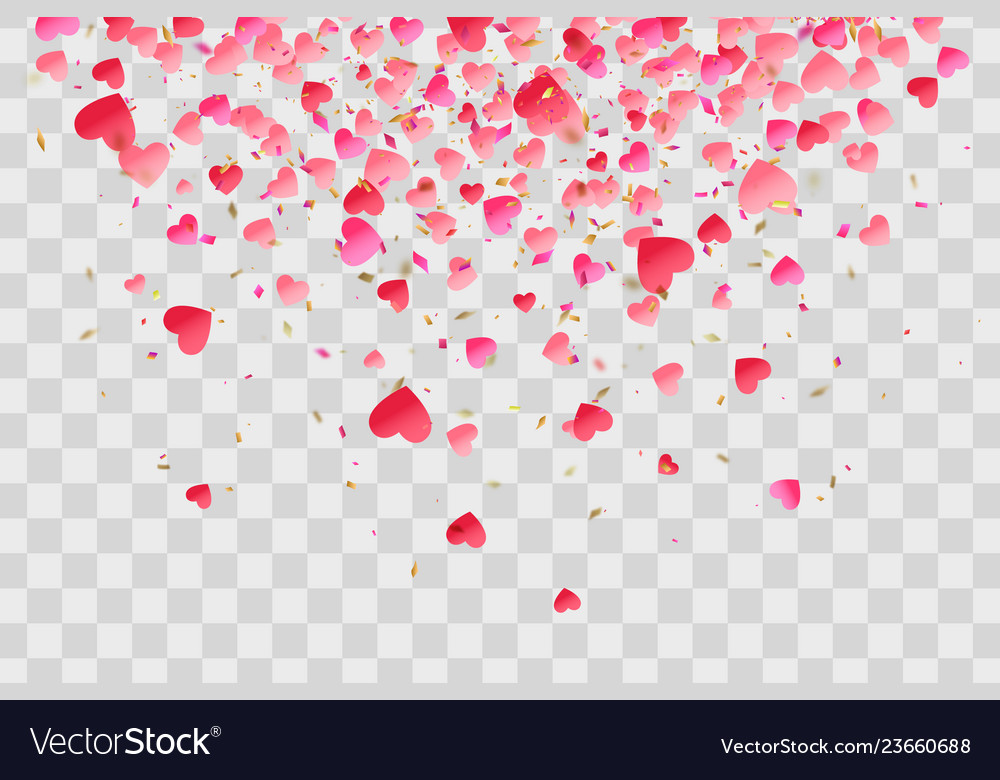 Love valentine day background with red hearts
