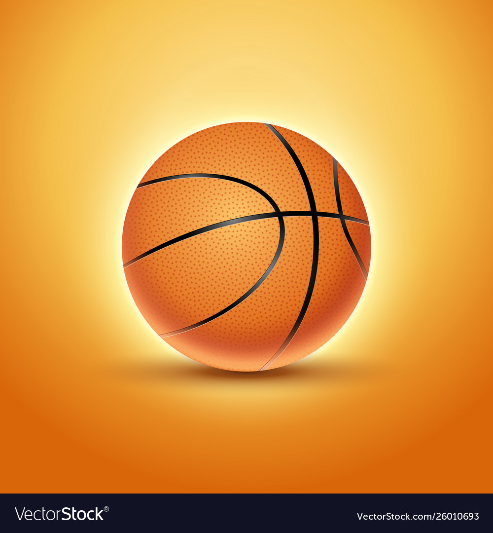 Basketball ball isolated orange icon background vector