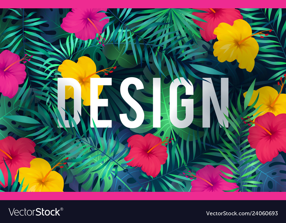 Bright tropical background exotic pattern jungle