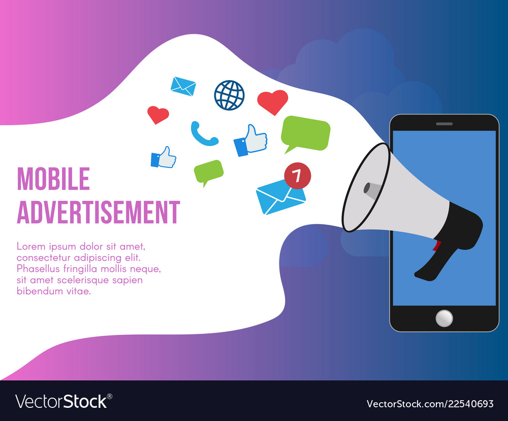 Mobile advertisement concept design template