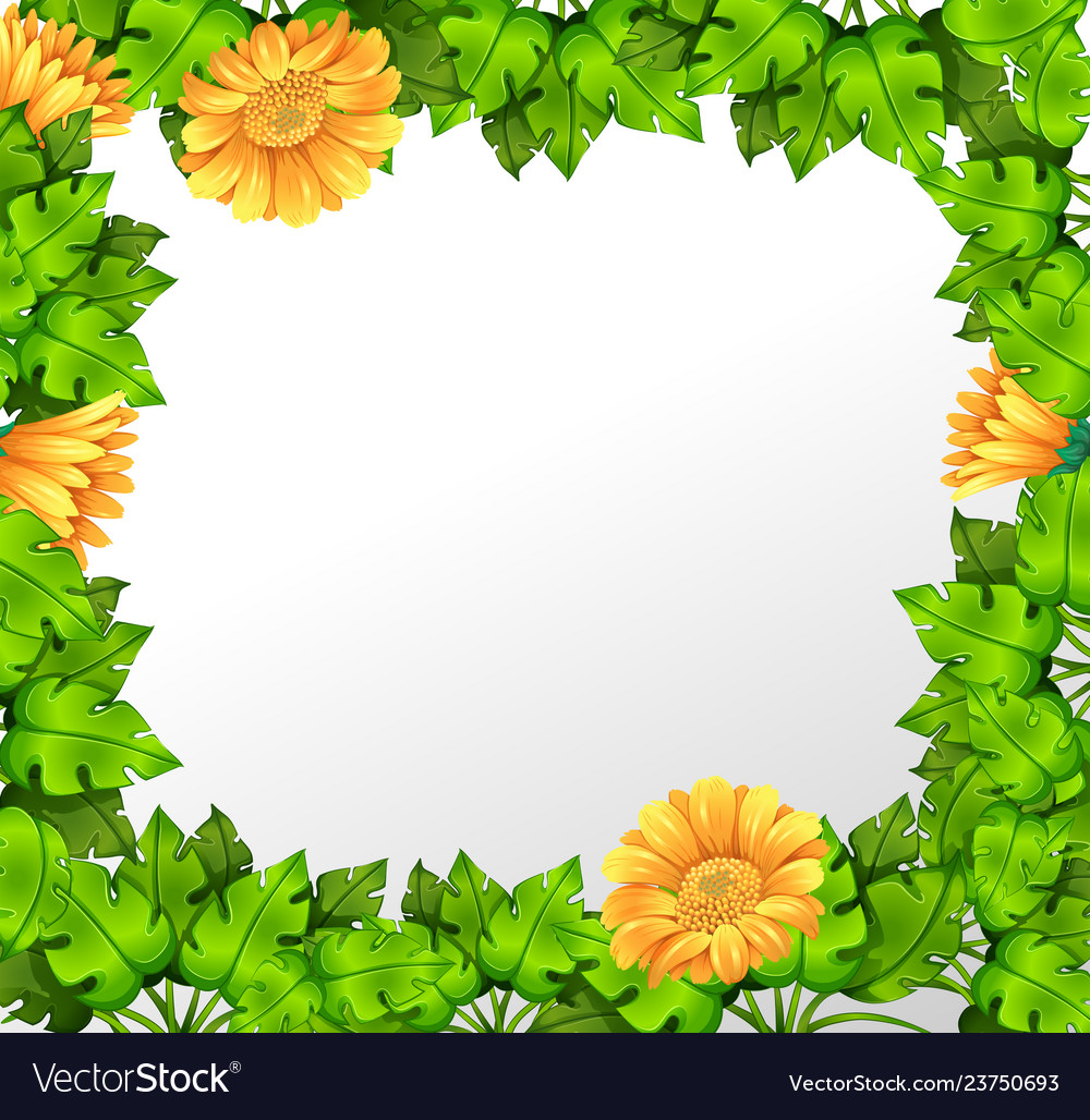 nature yellow flower border royalty free vector image vectorstock