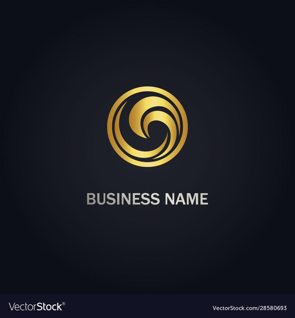 Round wave water ocean logo