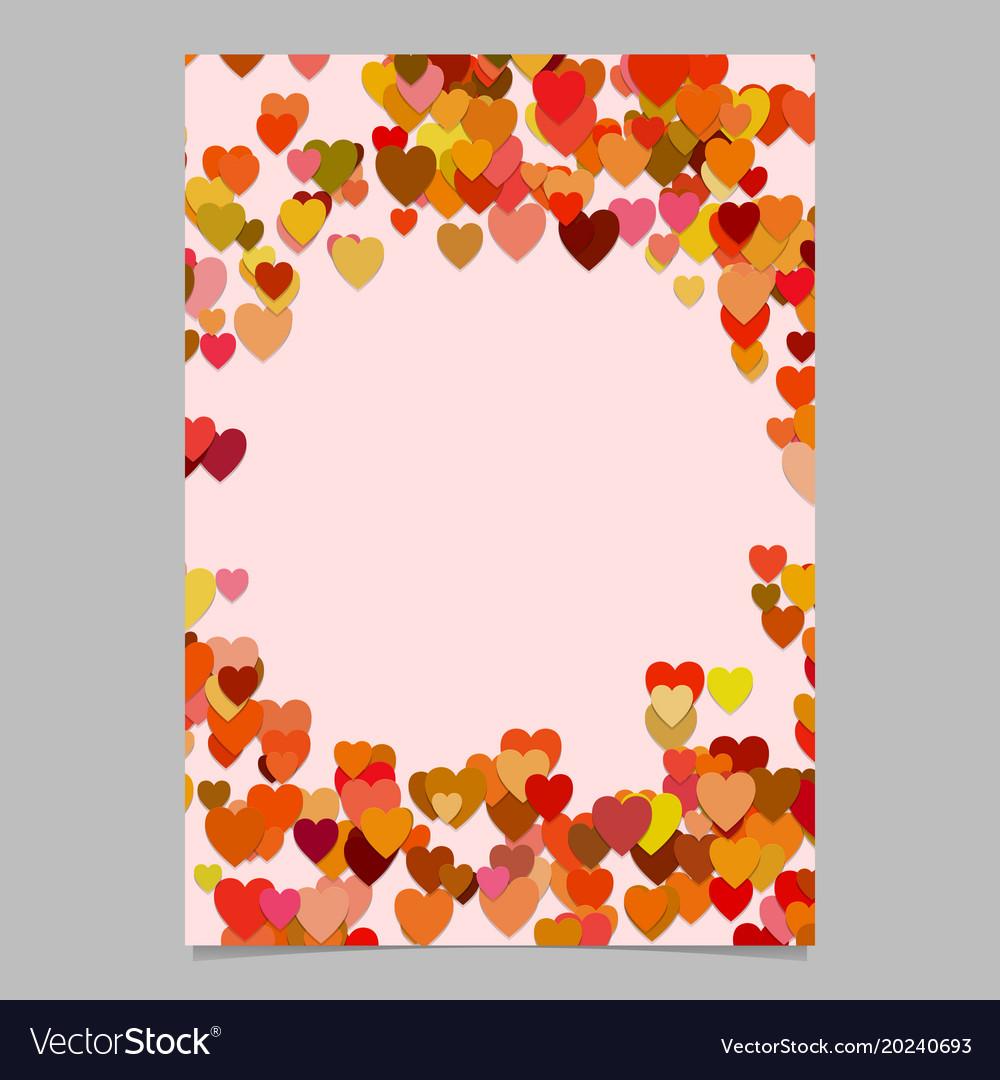 Trendy random heart brochure background template