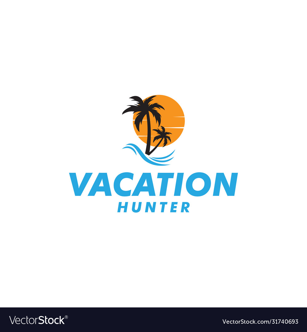 Vacation hunter graphic design template isolated