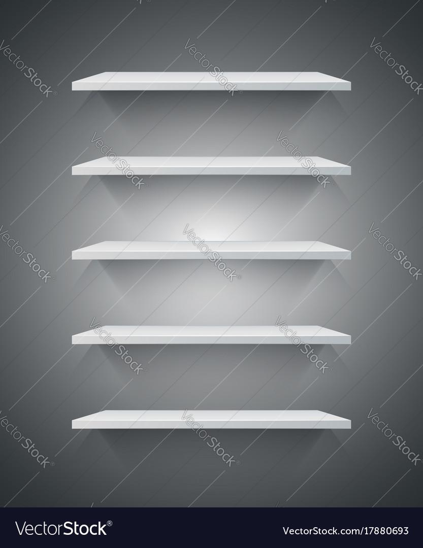 White 3d shelf icon