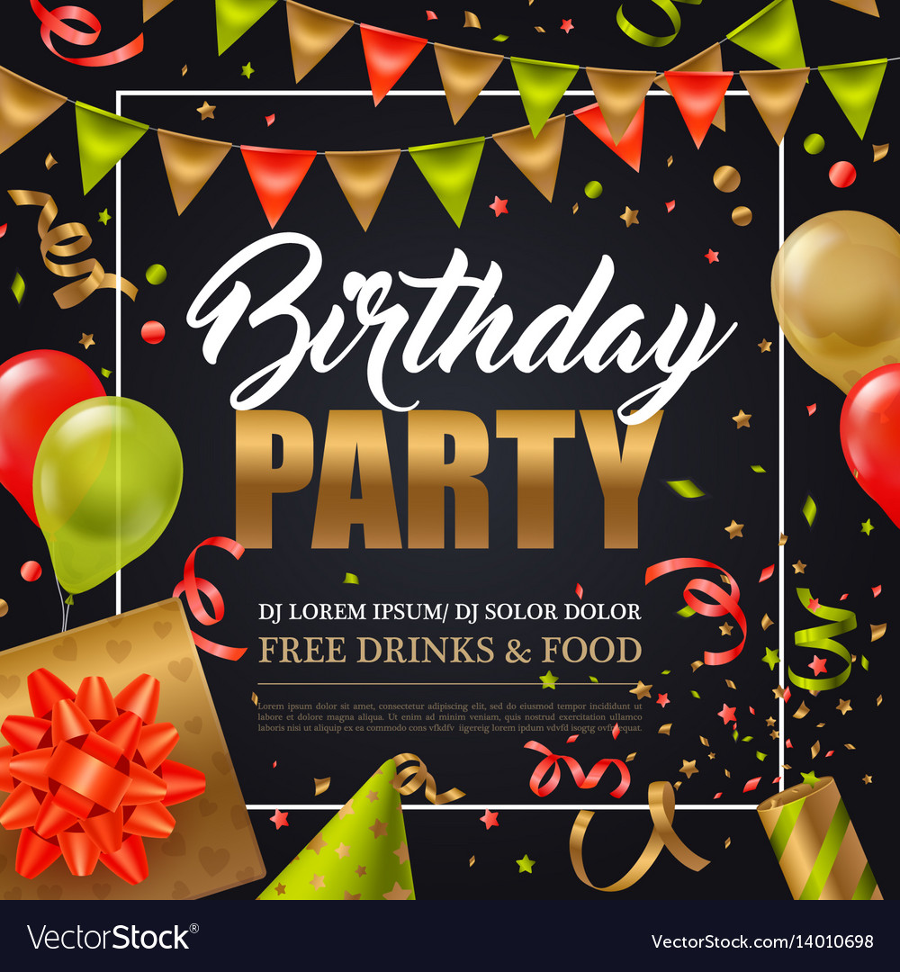 Birthday party poster
