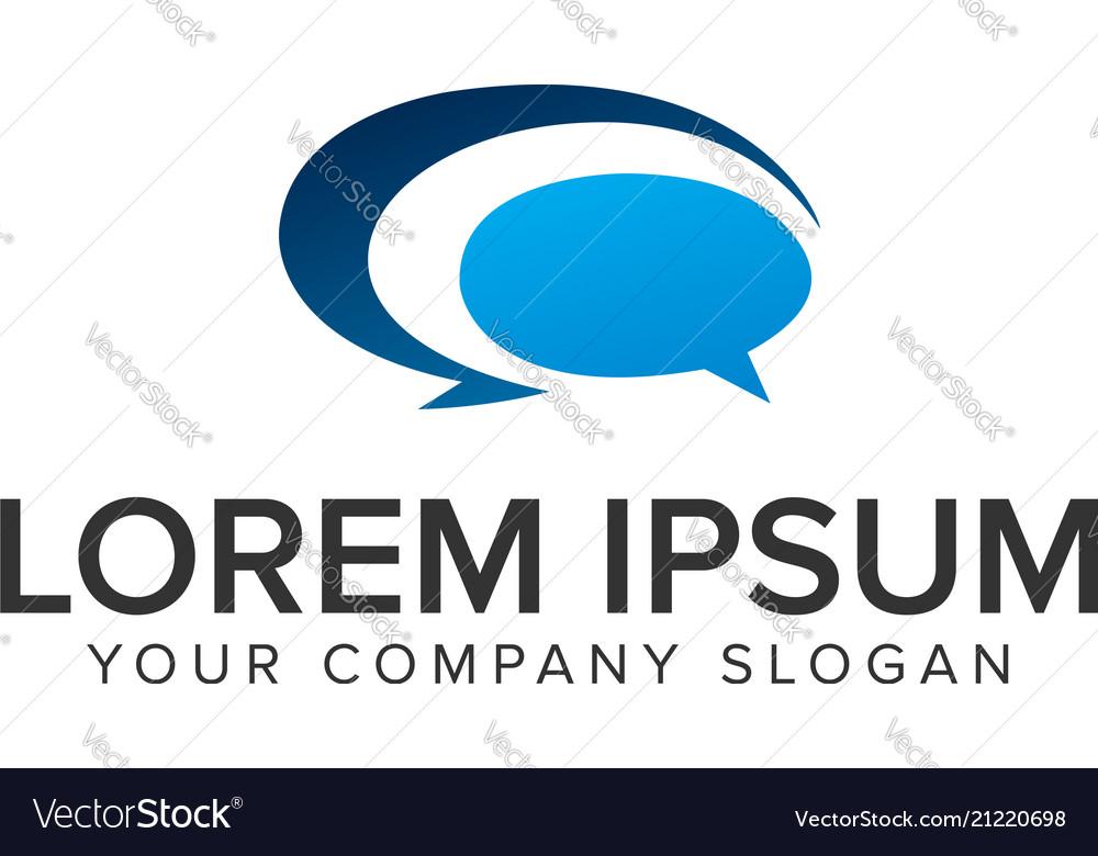 Chat logo design concept template