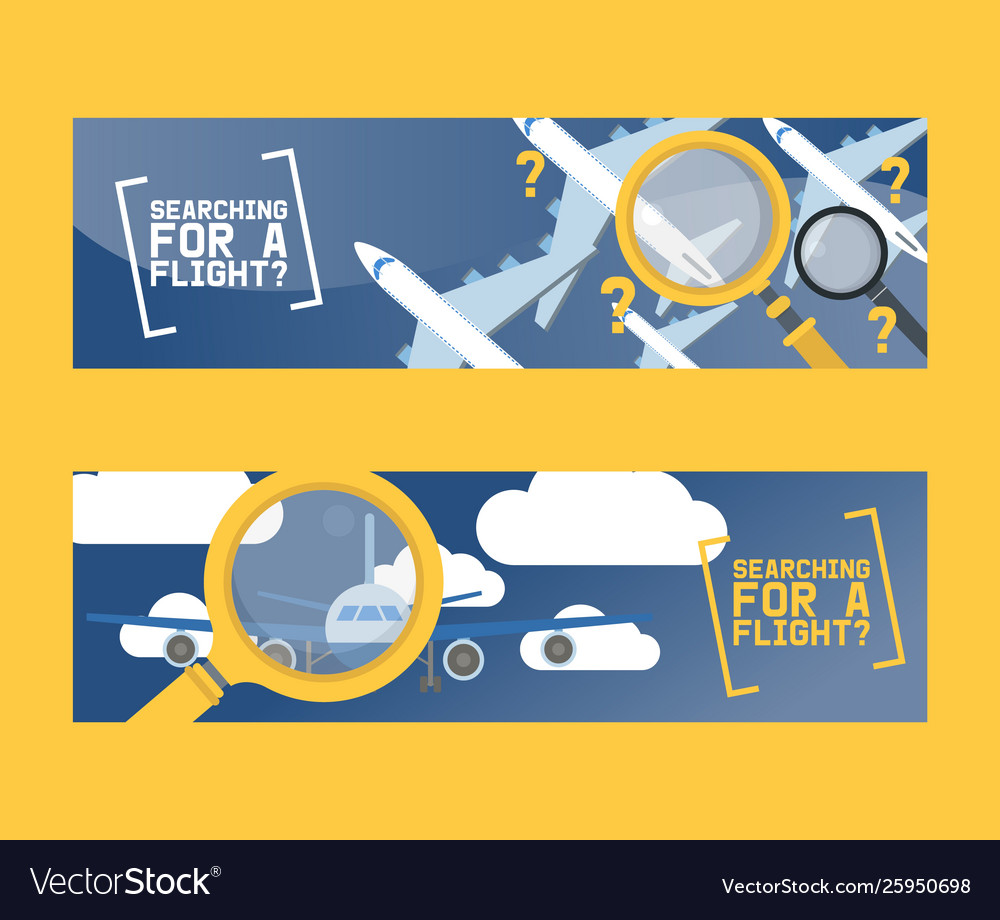 Flight search and airplane tickets service concept