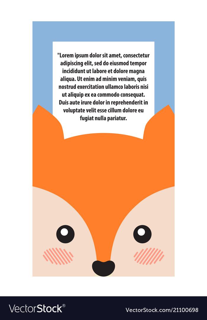 Fox head book cover design