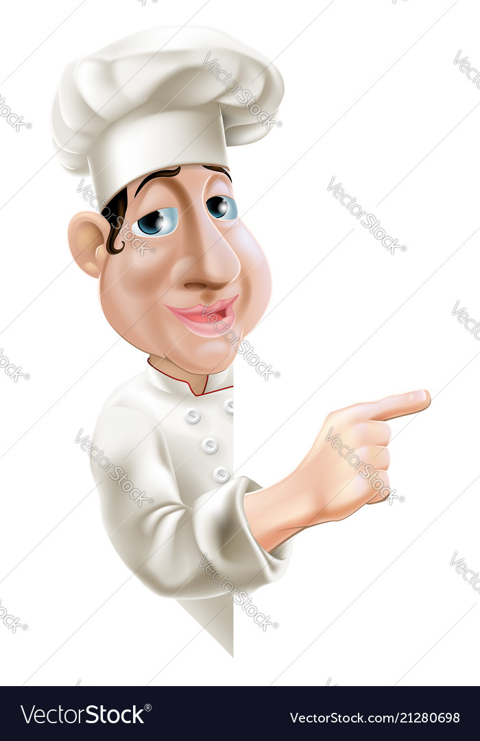 Side pointing chef