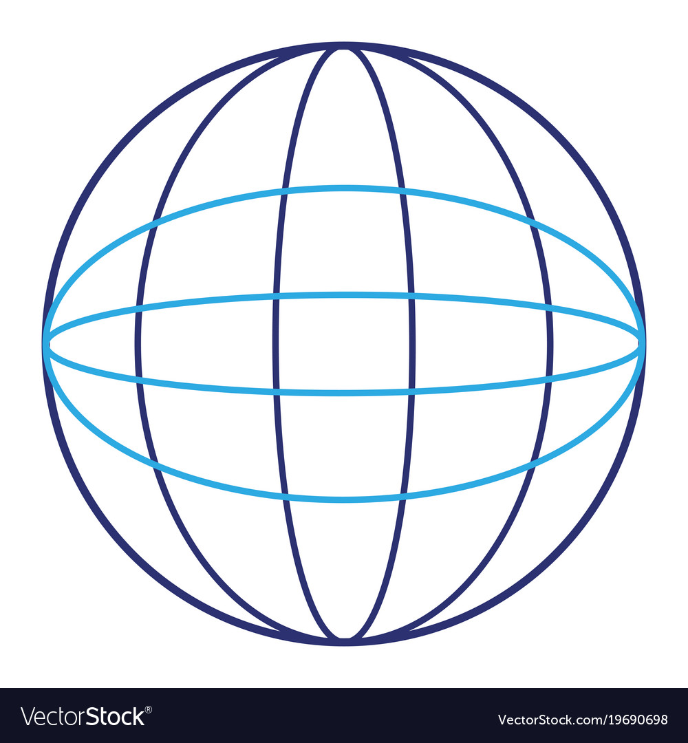 sphere planet isolated icon royalty free vector image rh vectorstock com vector sphere grid intersection vecteur sphere