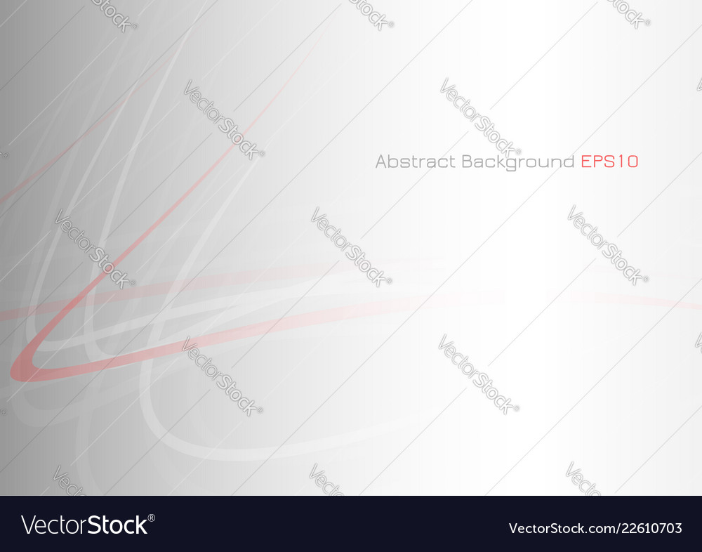 Abstract red curve on gray background with light