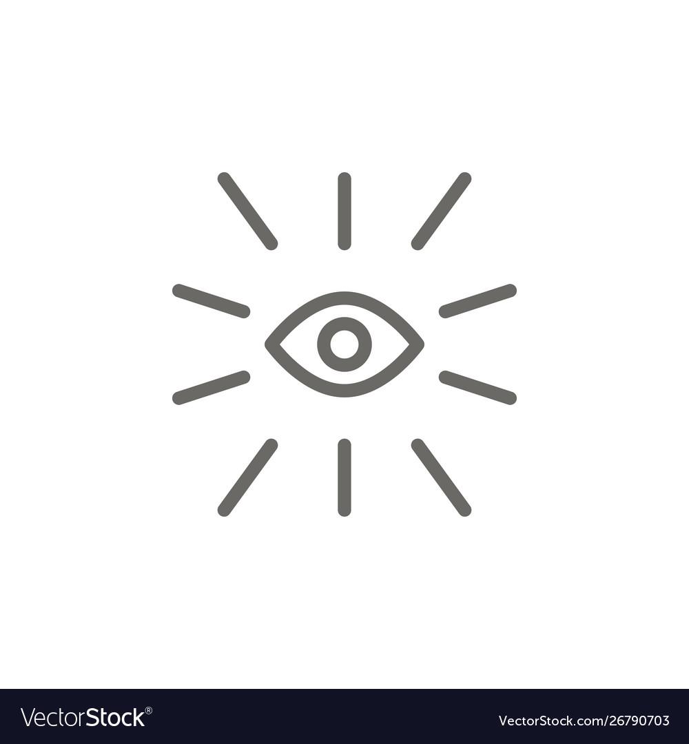 Eye symbol icon spiritual concept