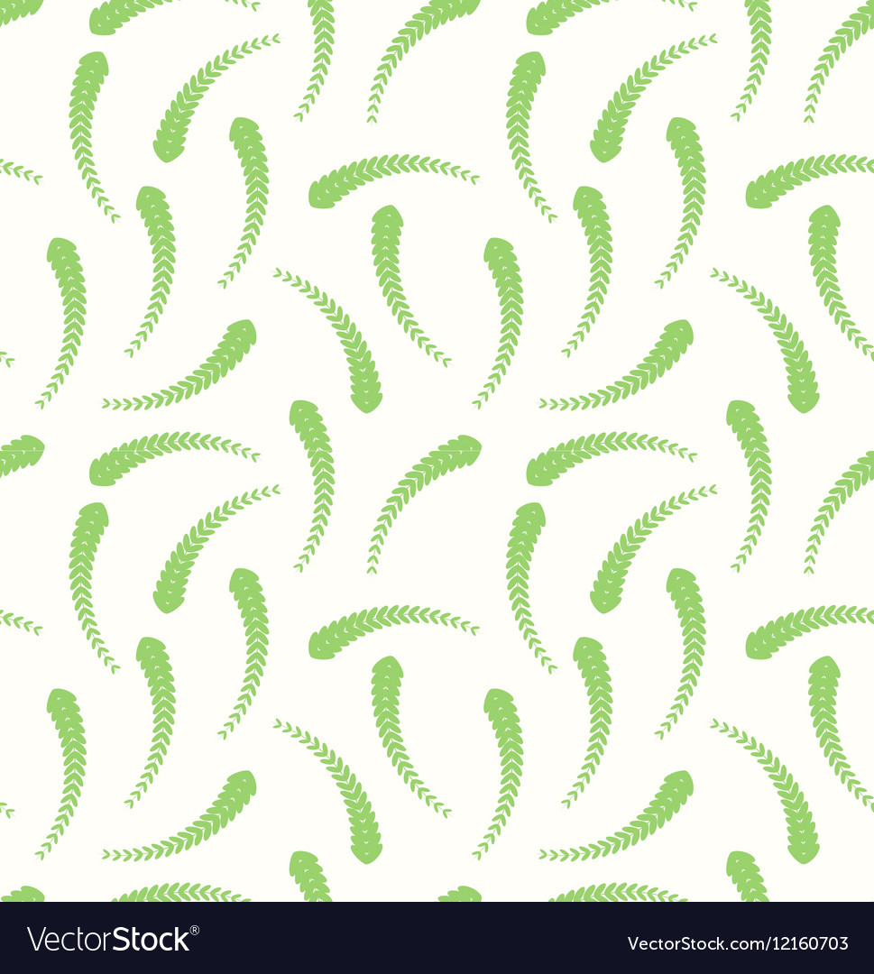 Long green leaves as a seamless pattern