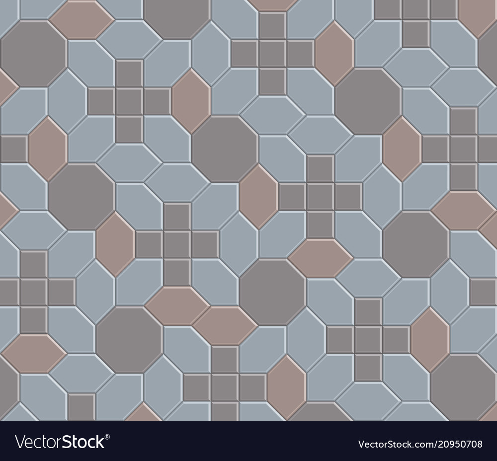 3d clay brick pattern floor-08 Royalty Free Vector Image