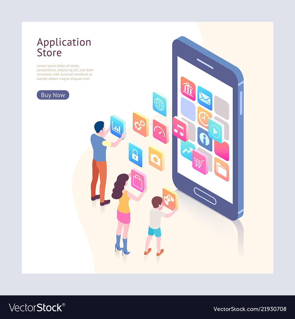 Application store isometric
