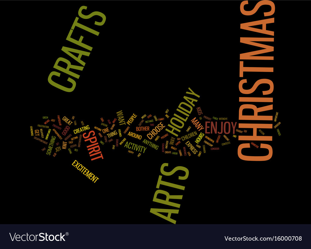 Arts and crafts for christmas text background