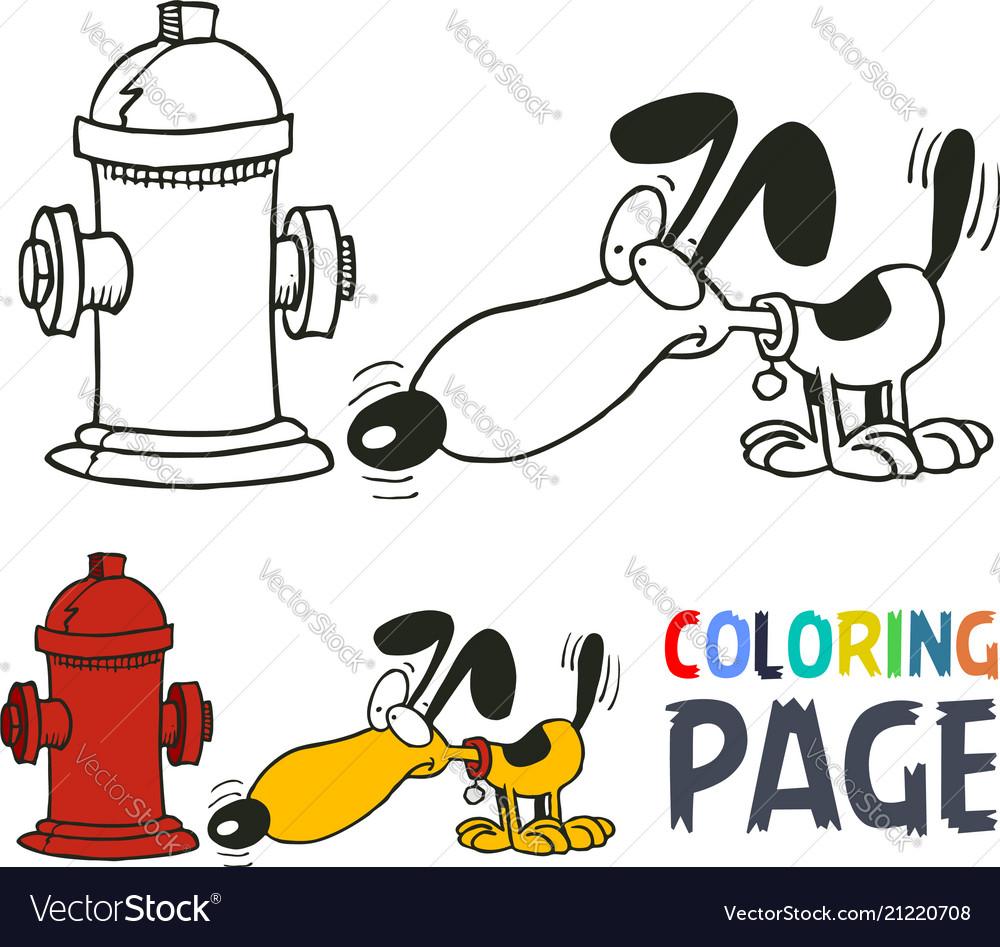 Dog cartoon coloring page