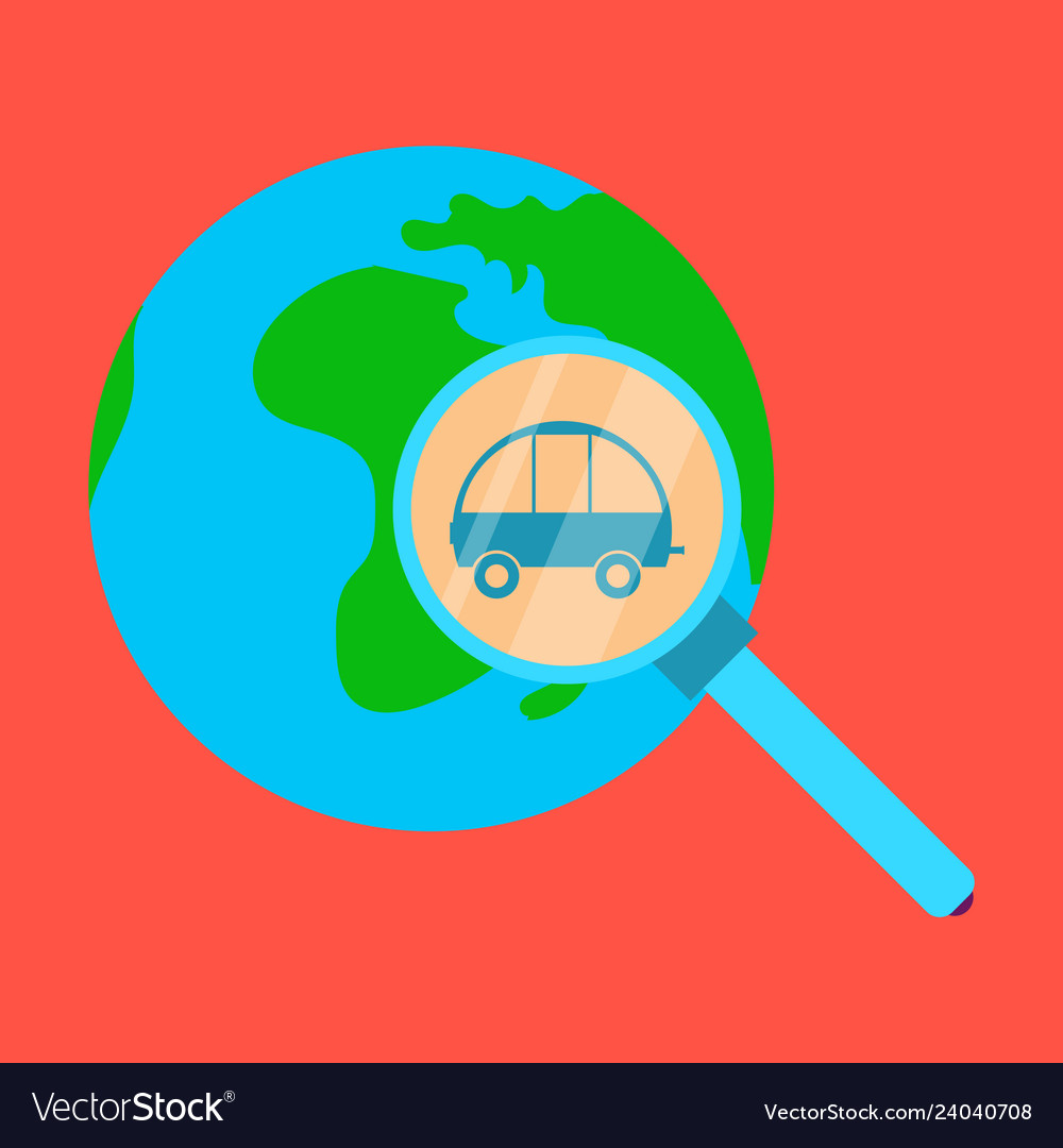 Globe car vehicle transportation car automotive vector image