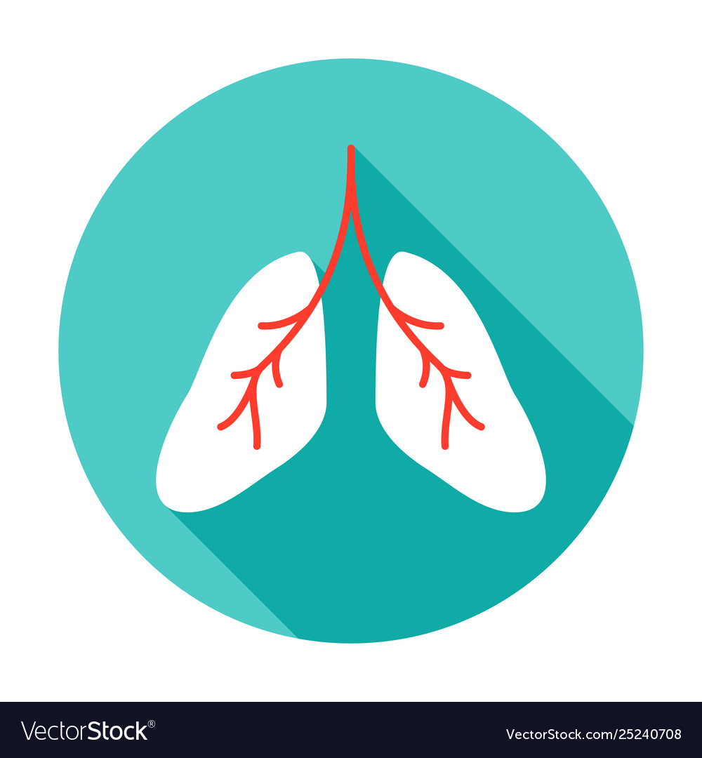 Lungs circle icon