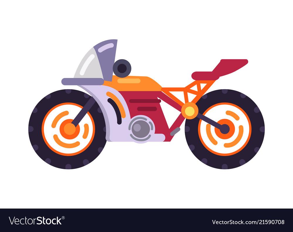 Motorized bicycle orange scooter motorbike