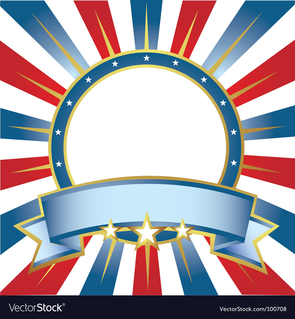 New frame usa colors ring vector image