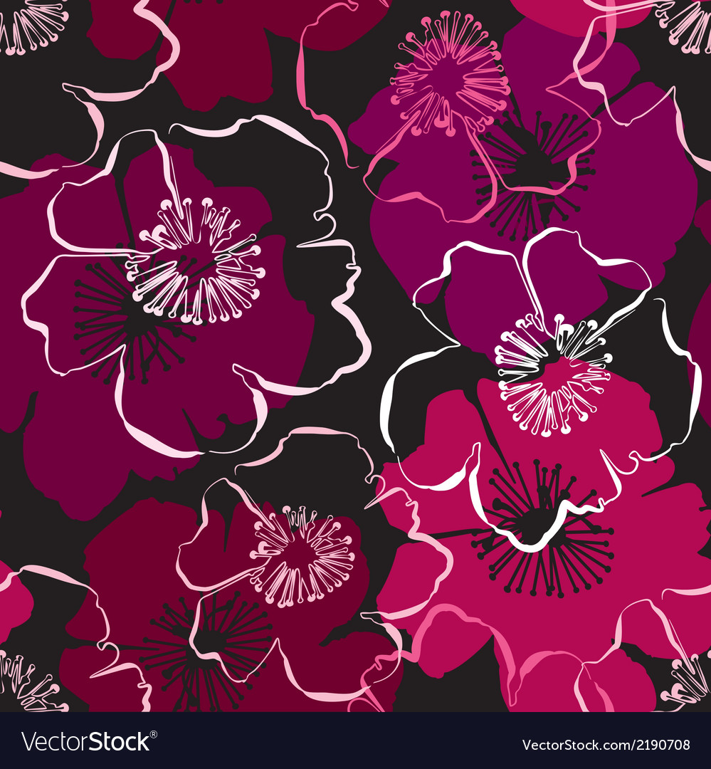 Seamless pattern with hand drawn outlines frangipa