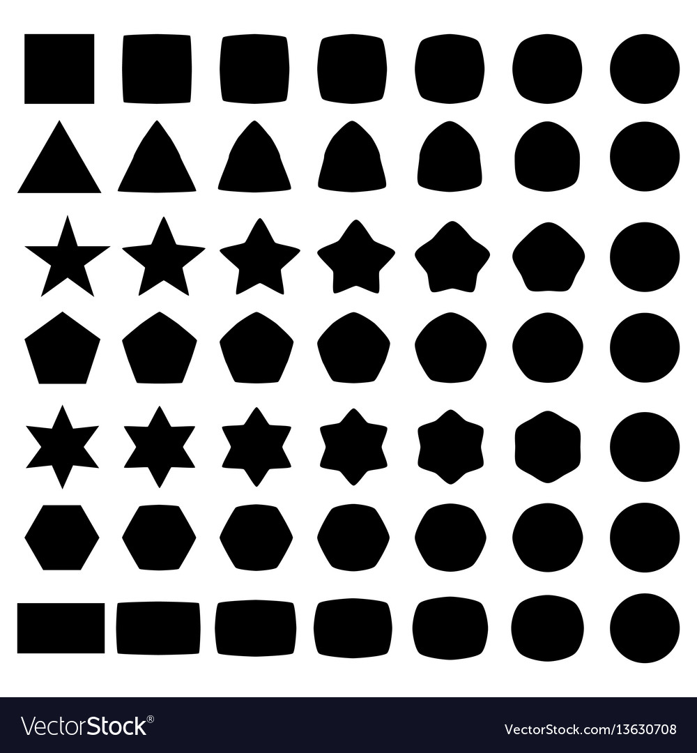 Set geometric shapes elements for logo
