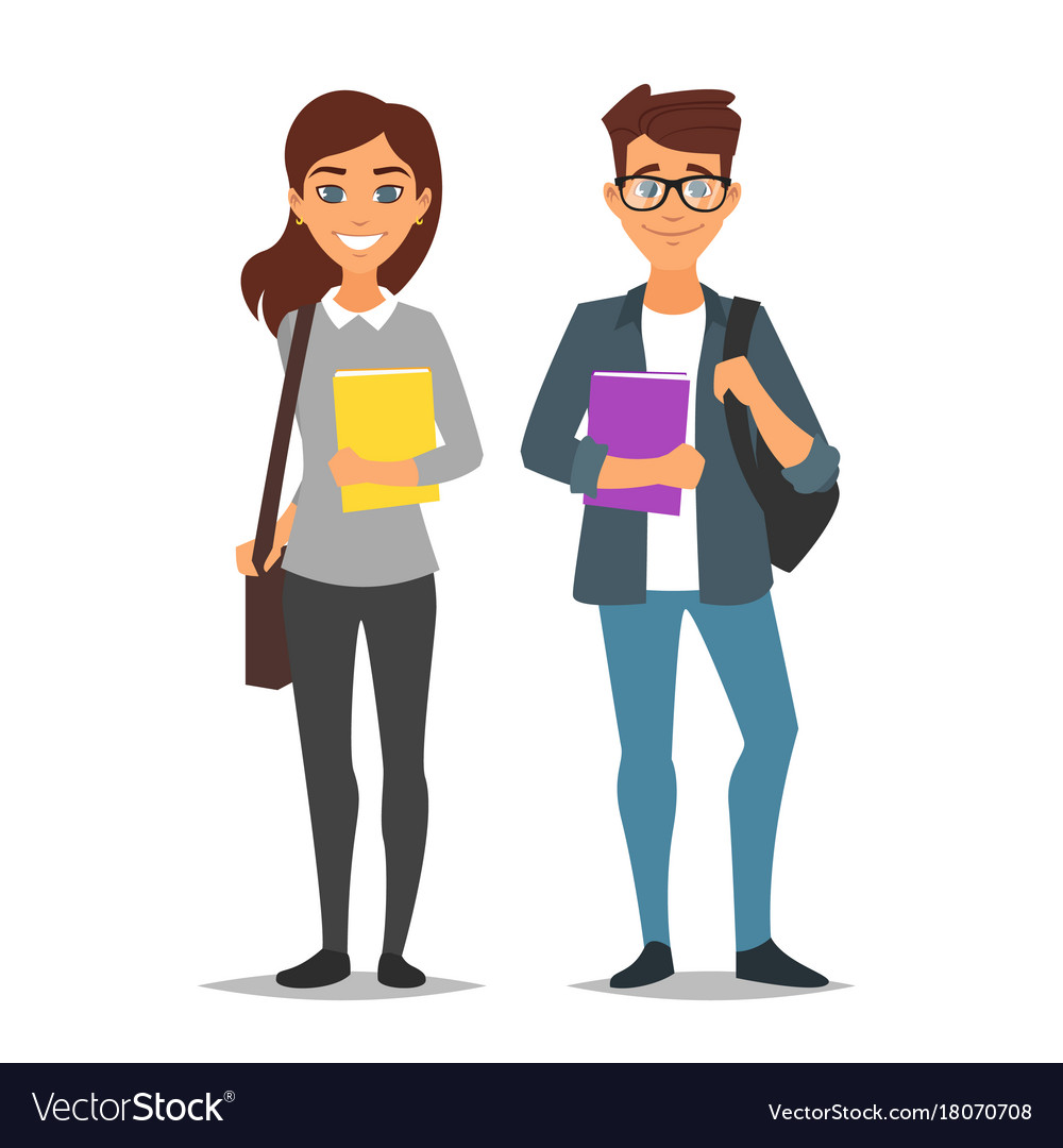 Student man and woman
