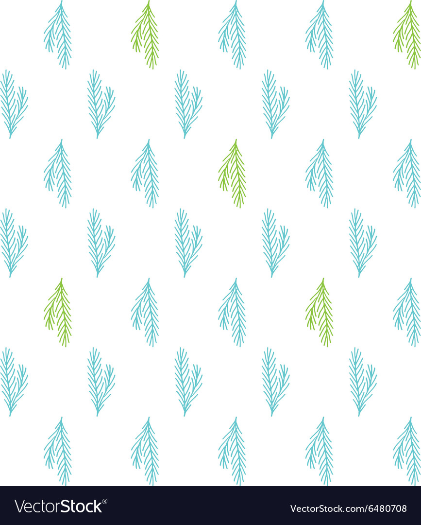 Tile Christmas background with pine tree twigs vector image