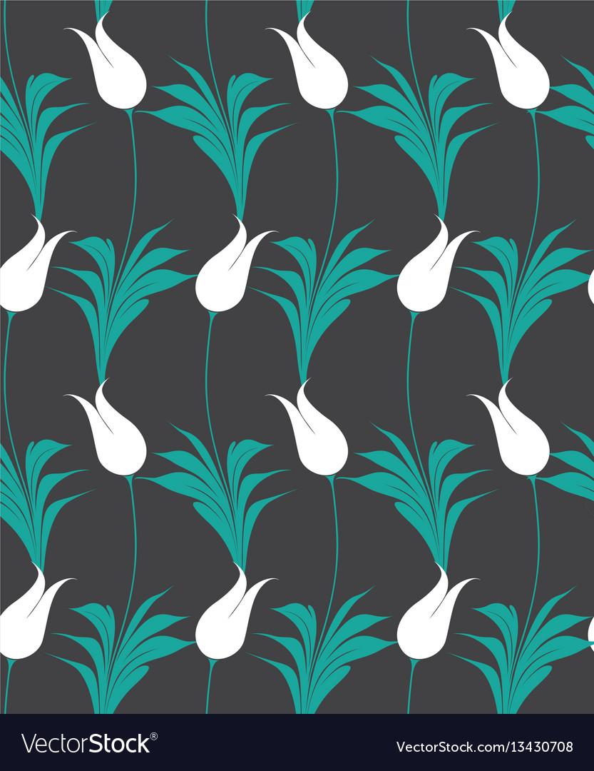 Turkish tulip seamless pattern