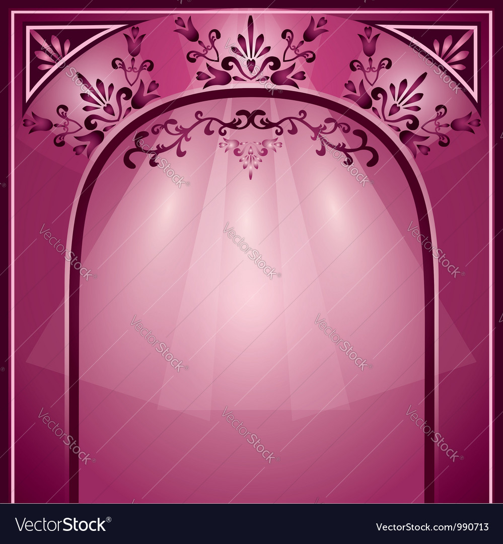 Background with arch and decorative ornament