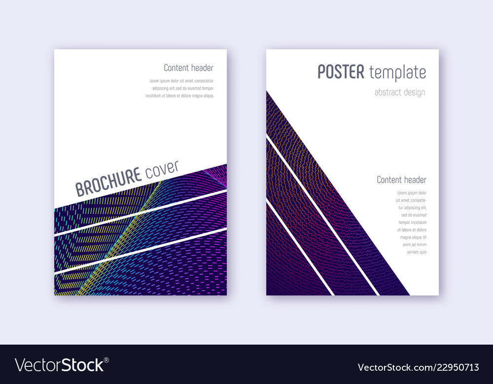 geometric cover design template set rainbow abstr vector image