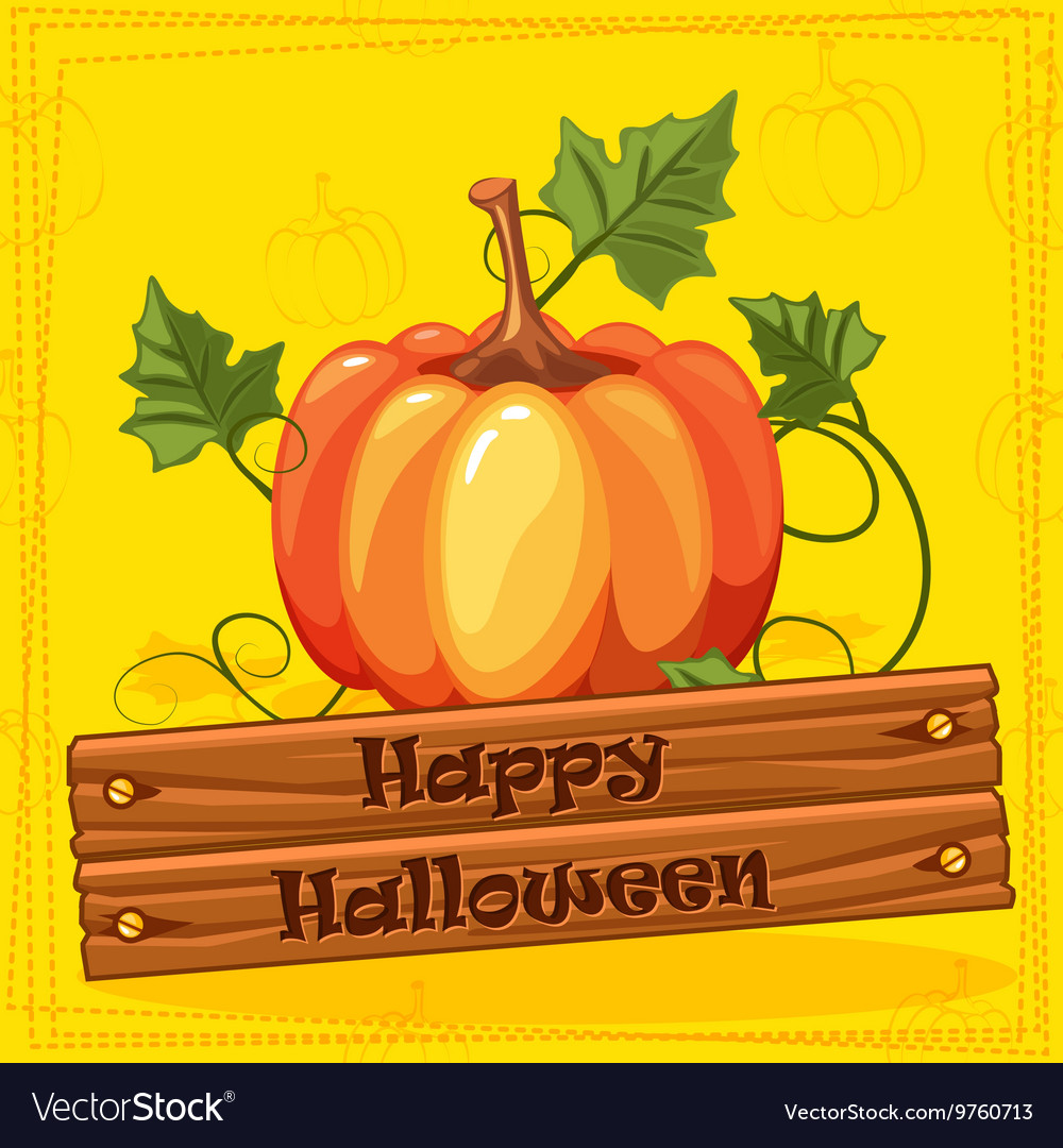 Happy Halloween Autumn Orange Pumpkin Vegetable