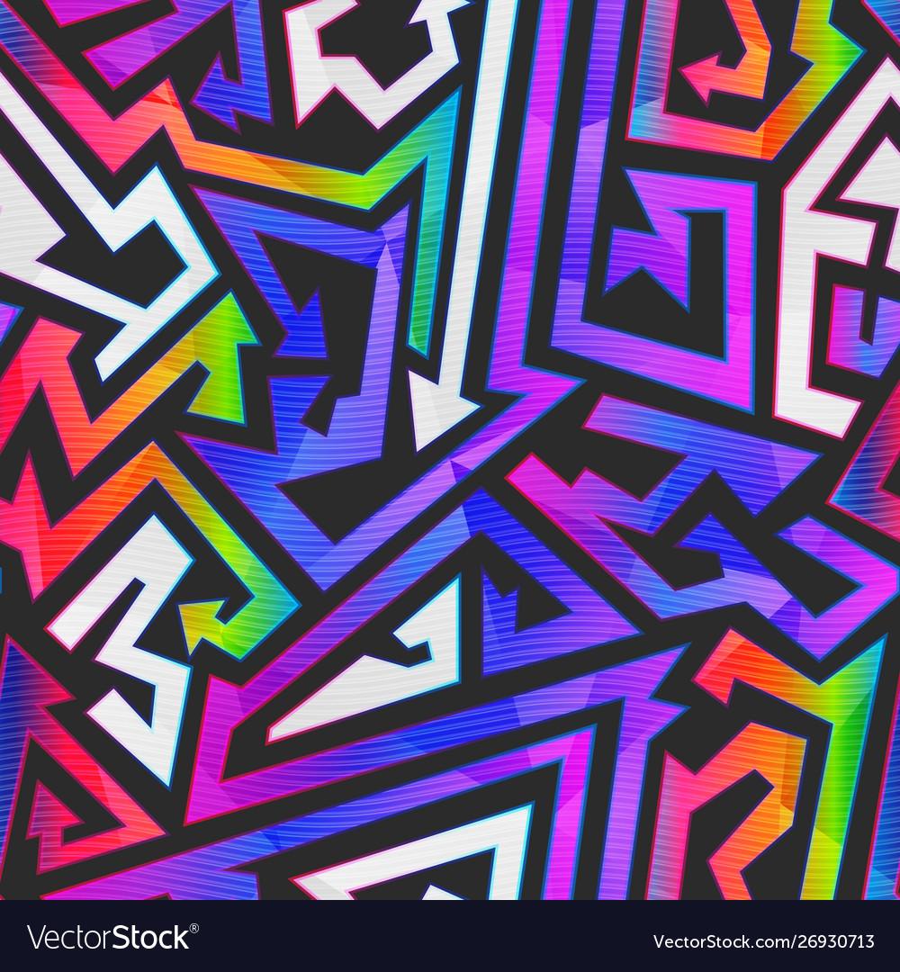 Rainbow color graffiti pattern