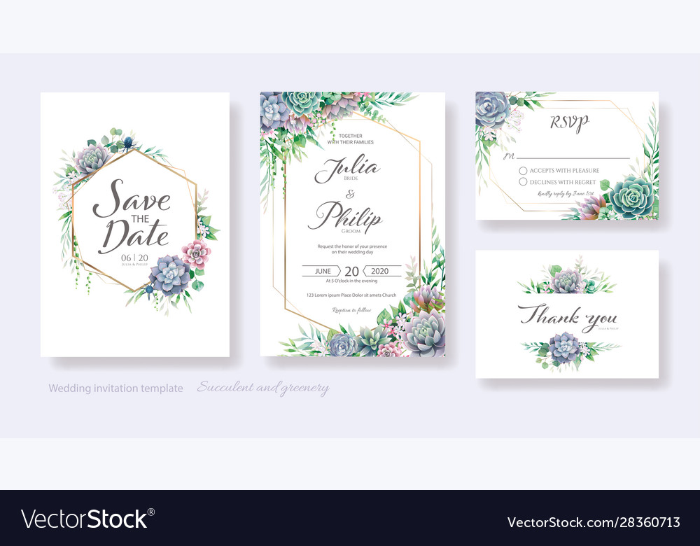 Wedding invitation save date thank you rsvp