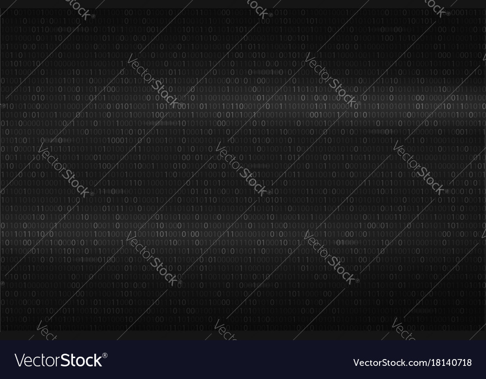 abstract binary code background black and white vector image vectorstock