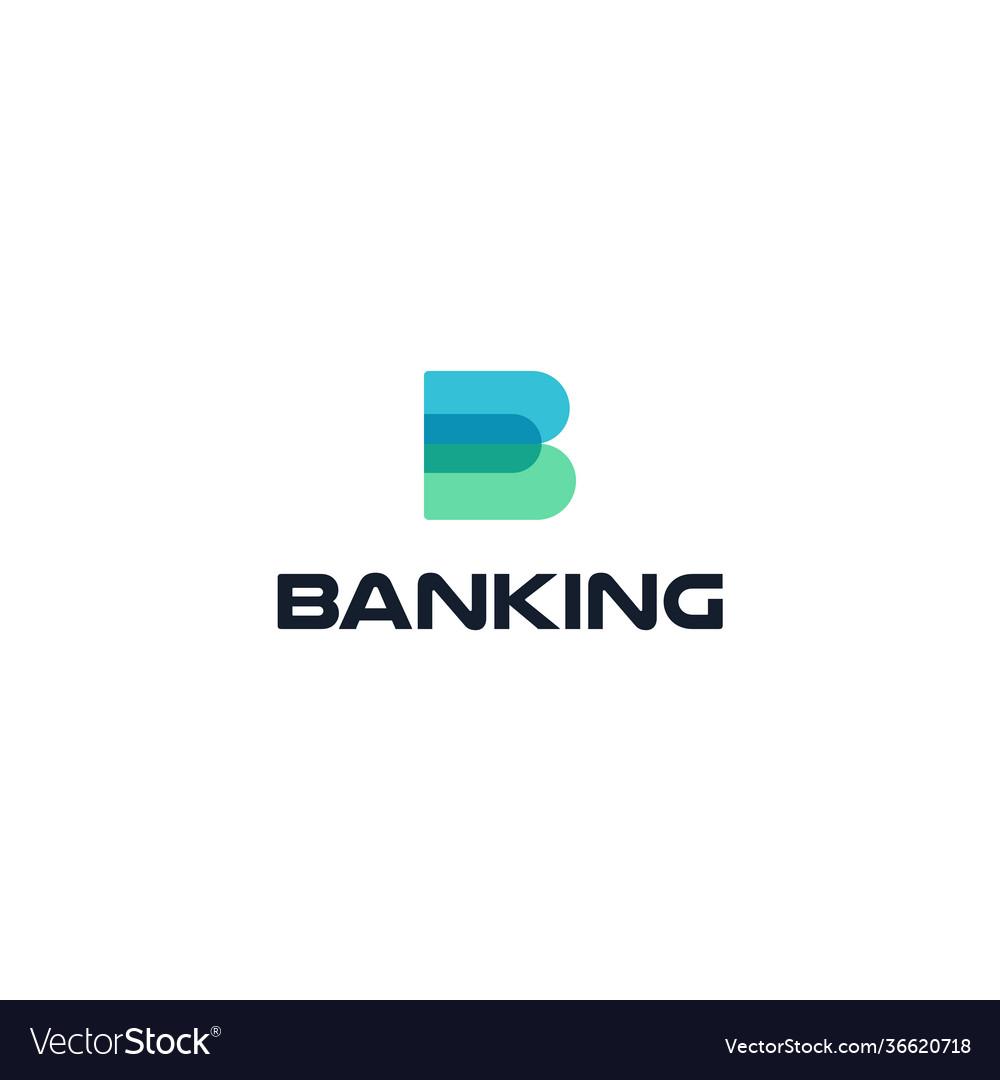 Banking trade rate flat cartoon style logo
