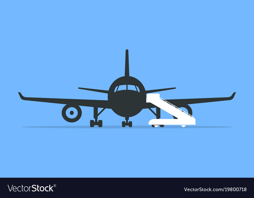 Boarding an airplane