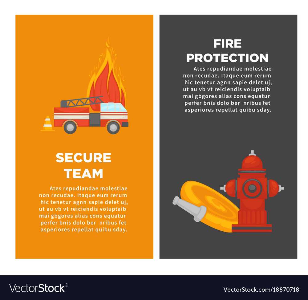 Fire protection or firefighting secure team