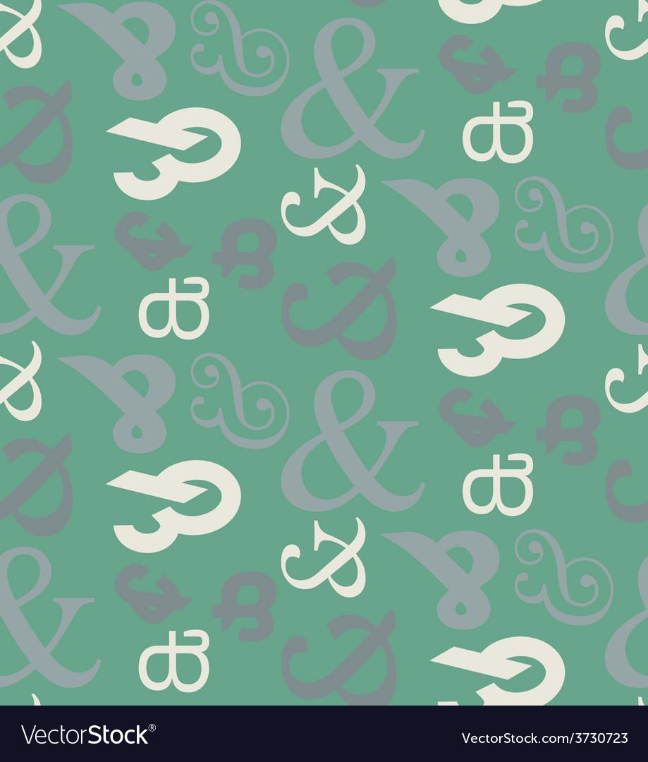 Ampersand seamless pattern