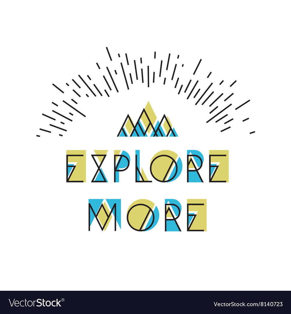 Explore More Abstract Icon Wilderness typography