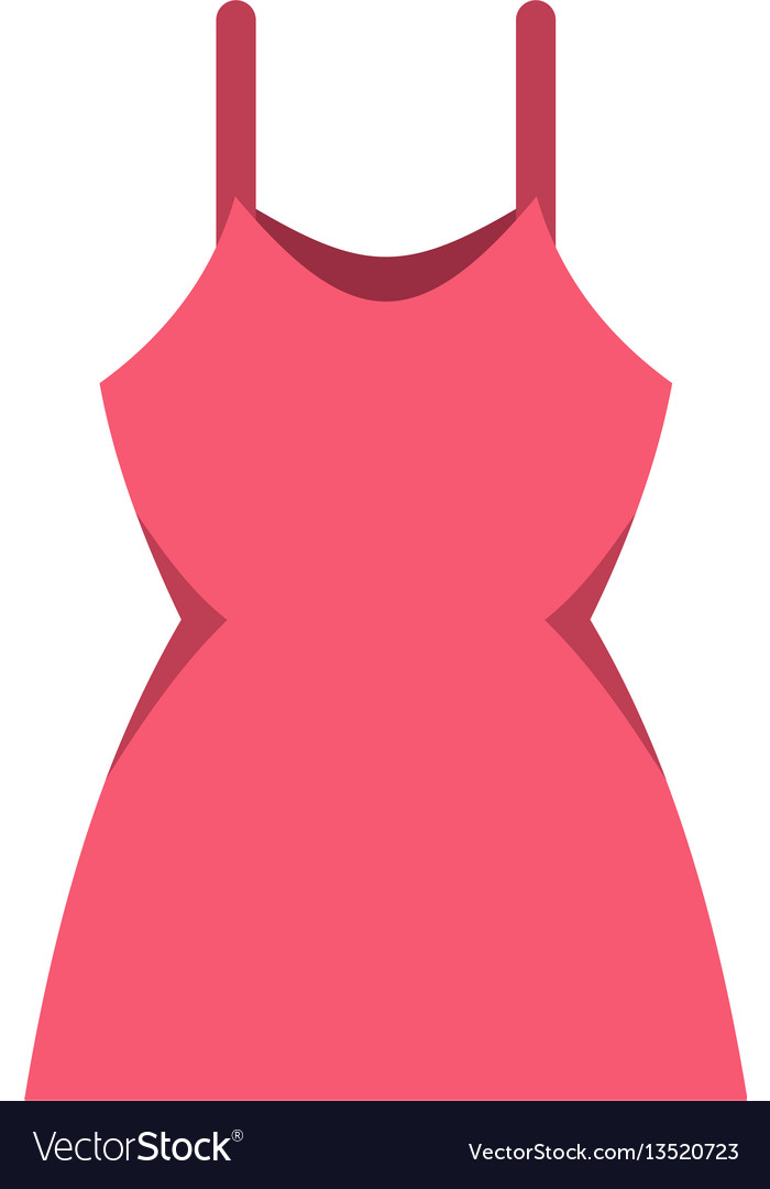 Little pink dress icon flat style