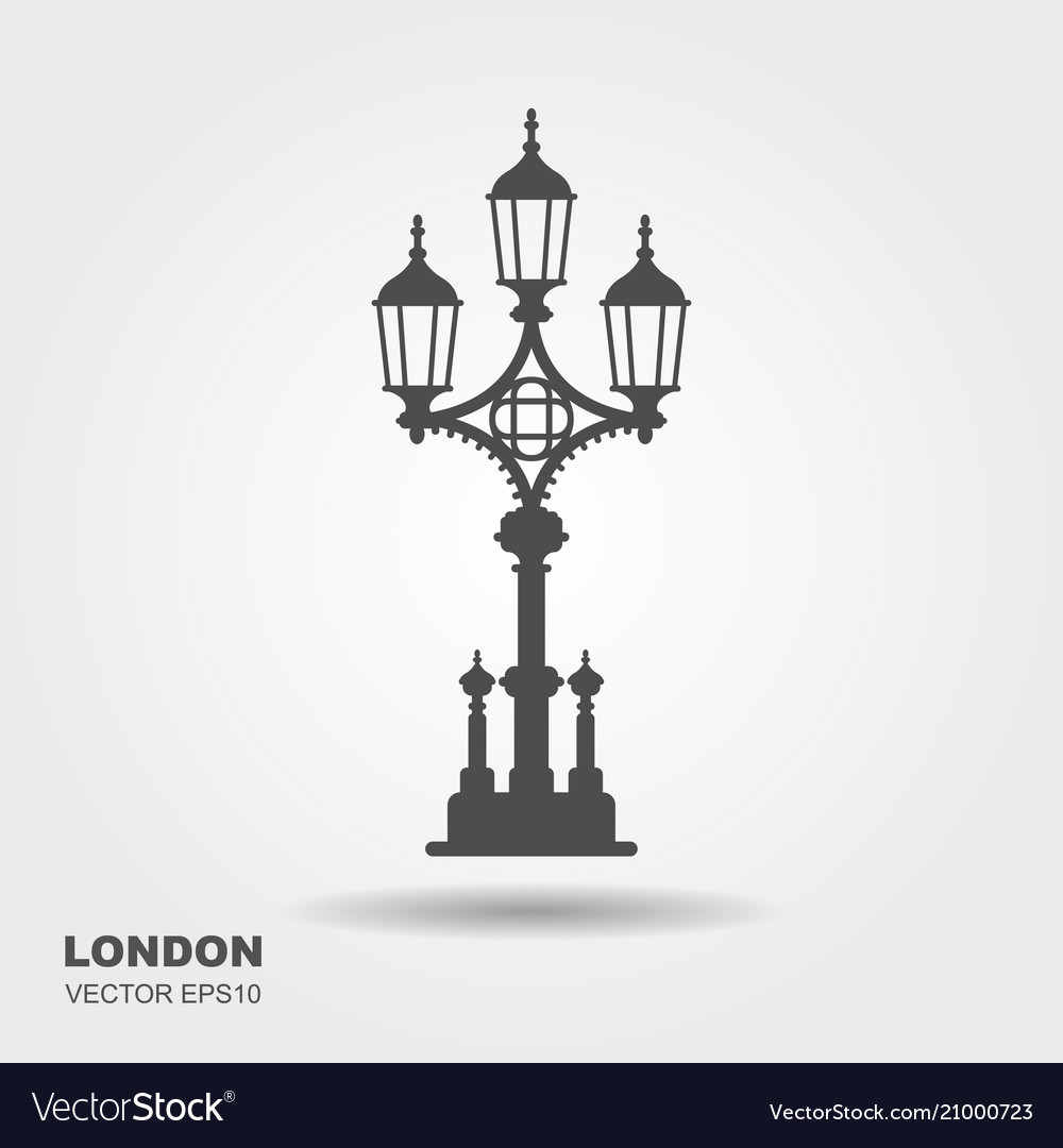 London street lantern icon